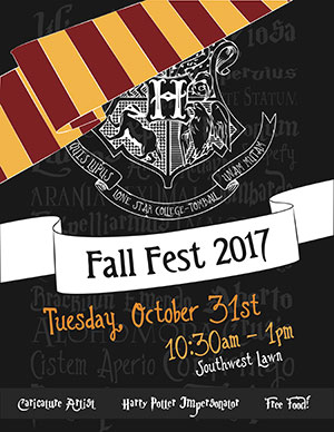 Fall Fest 2017, Tuesday October 31st, 10:30am - 1pm Southwest Lawn