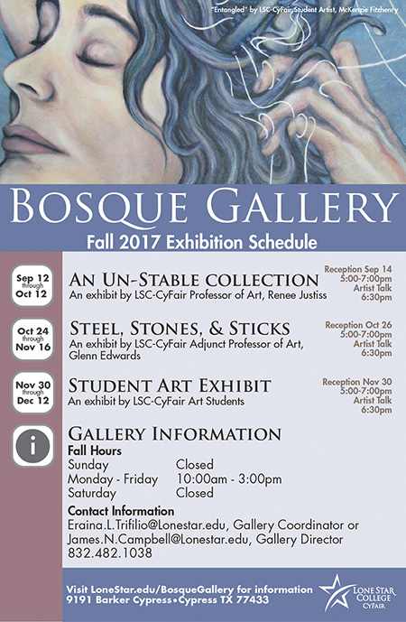 Bosque Gallery Fall 2017 Poster