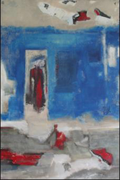 "INTERVAL 4: Blue Alley  � The Journey 24"" x 36"""