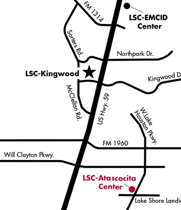 LSC-Atascocita Center Map