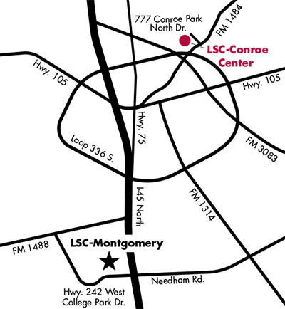 Image of LSC-Conroe Center Map