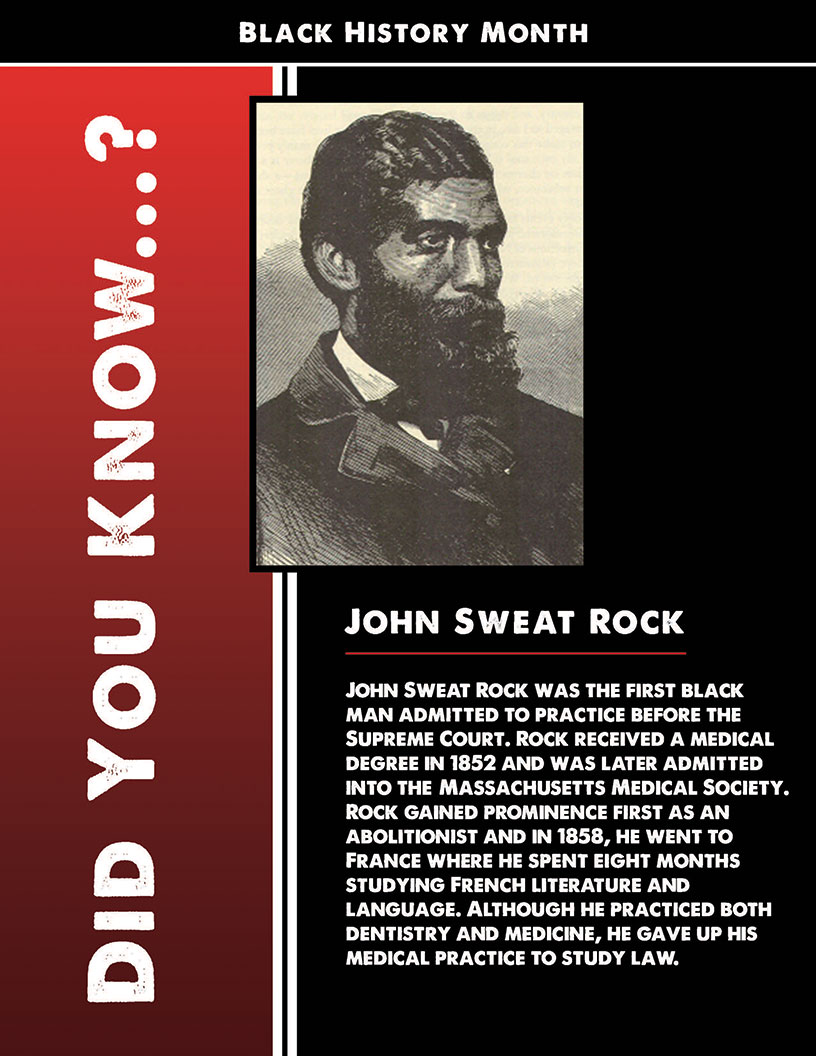 Black History Month - John Rock Sweat