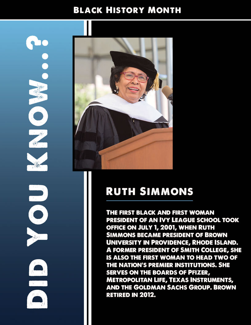 Black History Month - Ruth Simmons