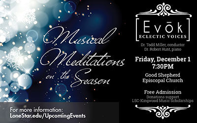Evok performs stress-free holiday concert