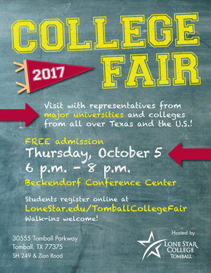 College Fair 2017, October 5, 6pm - 8pm