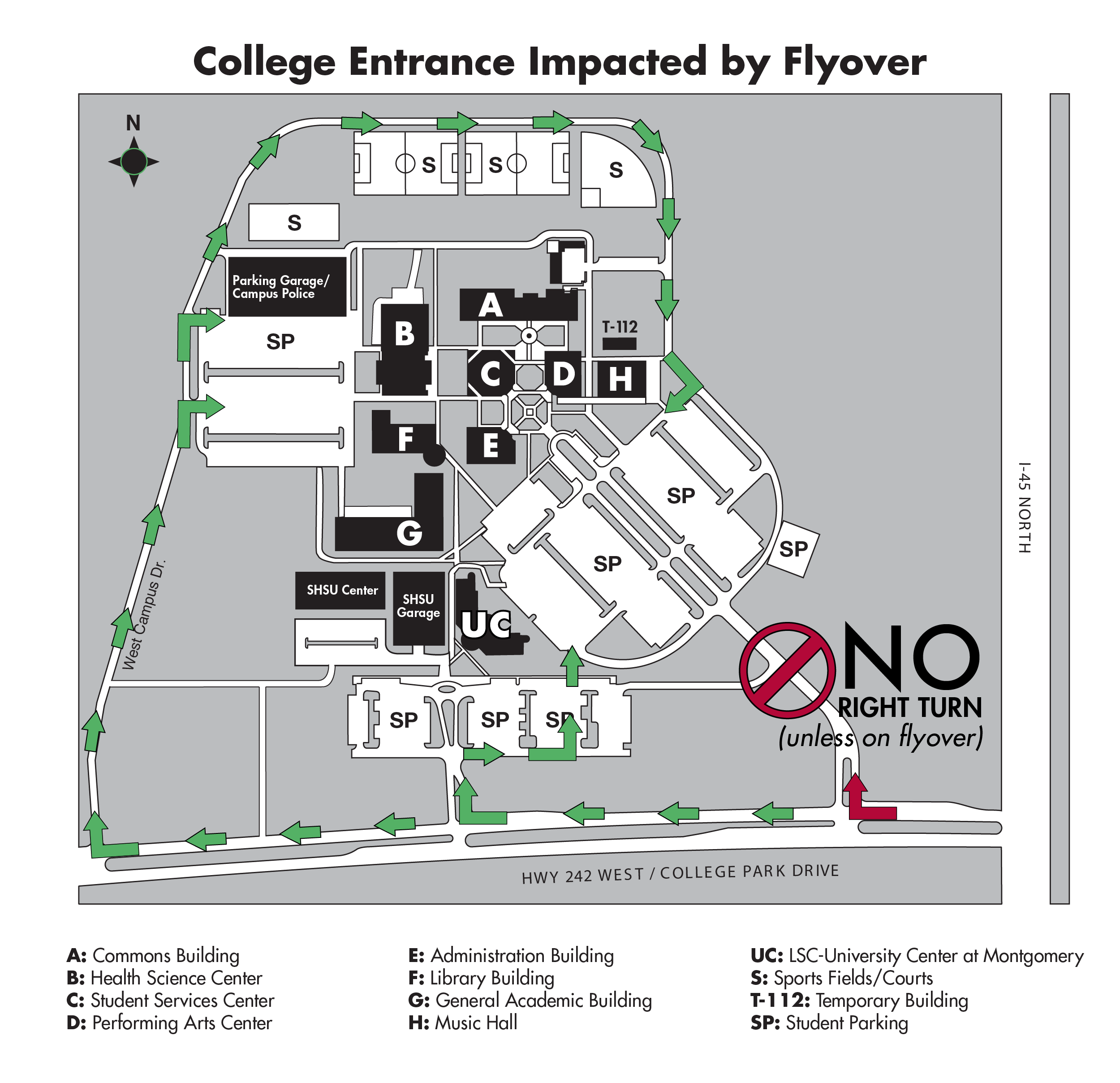 Newly Opened Flyover Impacts Entrance To Lone Star College Montgomery County Community Academic Calendar Diagram You