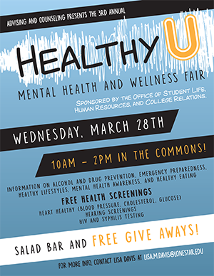 Healthy U, Mental Health and Wellness Fair March 28