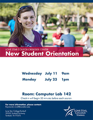 New Student Orientation Creekside Center July