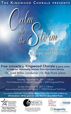 Kingwood Chorale presents concert of healing after hurricane