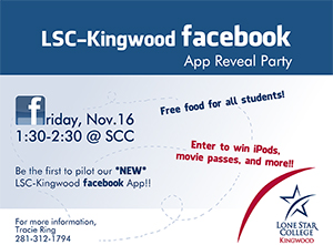 LSC-Kingwood Facebook App Reveal Party