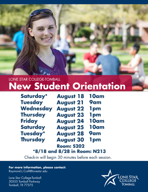 New Student Orientation Tomball August Continued