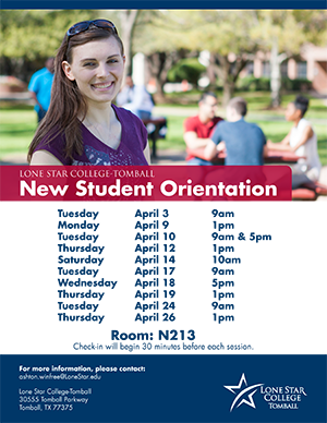 New Student Orientation in April