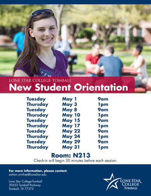 May 2018 New Student Orientation
