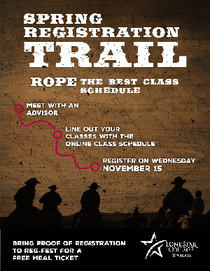 Spring Registration Trail, Rope the Best Class Schedule