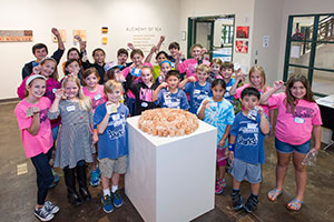 Elementary Students Tour College Art Gallery
