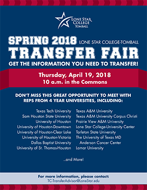 Spring Transfer Fair 2018 Flyer