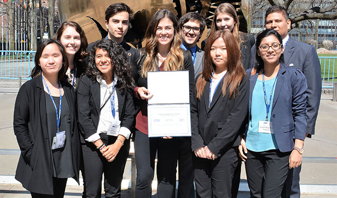 National Model U.N. Delegates from LSC-Montgomery