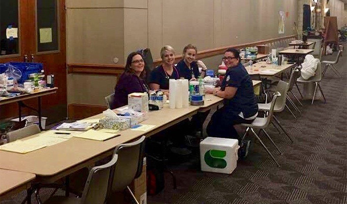 Nursing students volunteer at Lone Star Convention Center