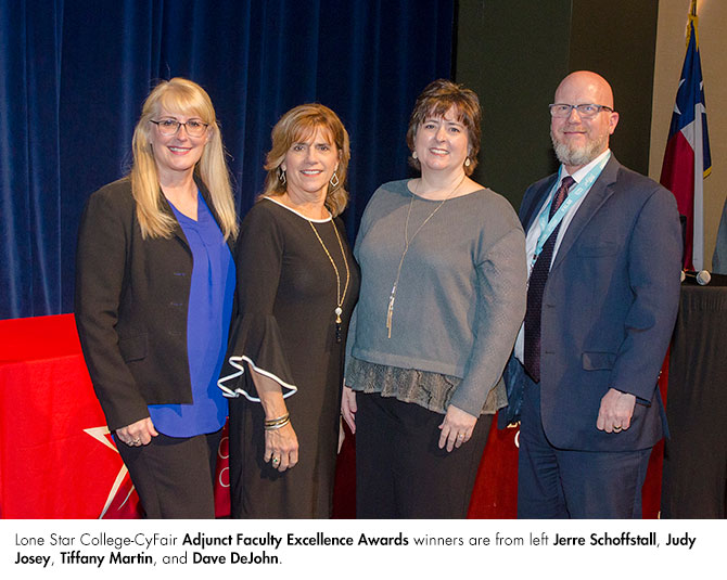Lone Star College-CyFair's Adjunct Faculty Excellence Winners 2019