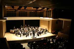 LSC-Montgomery band students performing in the Recital Hall