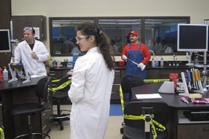 biotech students in costume