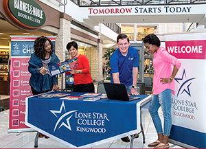 LSC-Kingwood opens booth at Deerbrook Mall