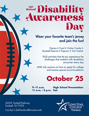 Disability Awareness Day, Oct 25, 9am -  2pm