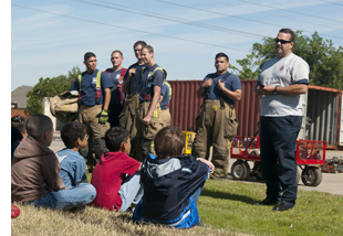 Lieder kids at Fire Academy