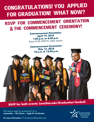 RSVP for Commencement Ceremony 2018 Flyer