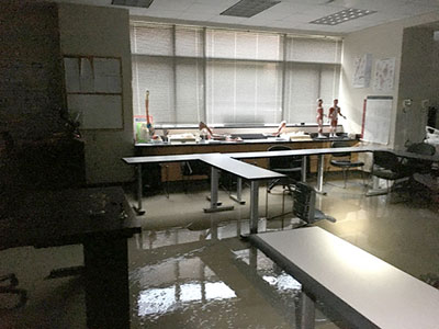 LSC-Kingwood's Occupational Therapy Assistant (OTA) Program was flooded inside of the Health Science Building.