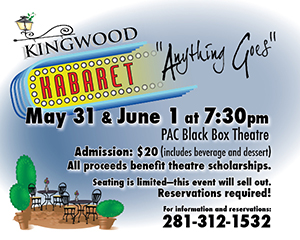 Community invited to Kingwood Kabaret
