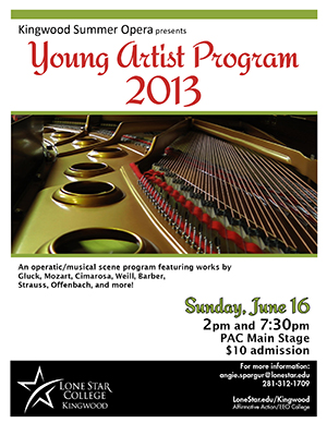 Kingwood Summer Opera presents Young Artist Program 2013