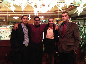 College Forensics Team Ties for First Place in Debate