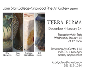 "LSC-Kingwood to Feature Five Ceramicists in ""TERRA FORMA"" Exhibit"