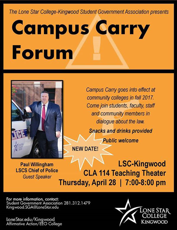 LSC-Kingwood hosts Campus Carry Forum