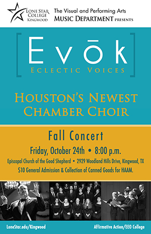 Evok Choir to Perform Fall Concert, Oct. 24
