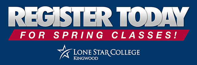 Register for classes at LSC-Kingwood for Spring 2018