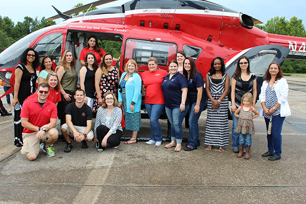 Life Flight helicopter touched down at LSC-Kingwood