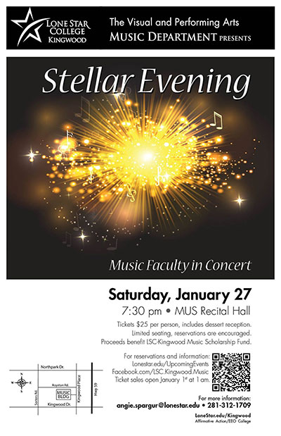 "LSC-Kingwood invites community to ""Stellar Evening"""