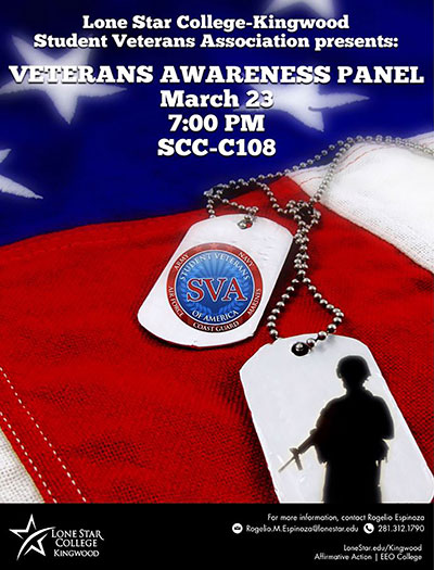 LSC-Kingwood invites veterans, families to awareness panel