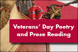 Vets day Poertry and Prose Reading