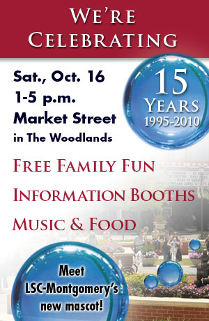 LSC-Montgomery 15 yr. Celebration October 16 at Market Street The Woodlands