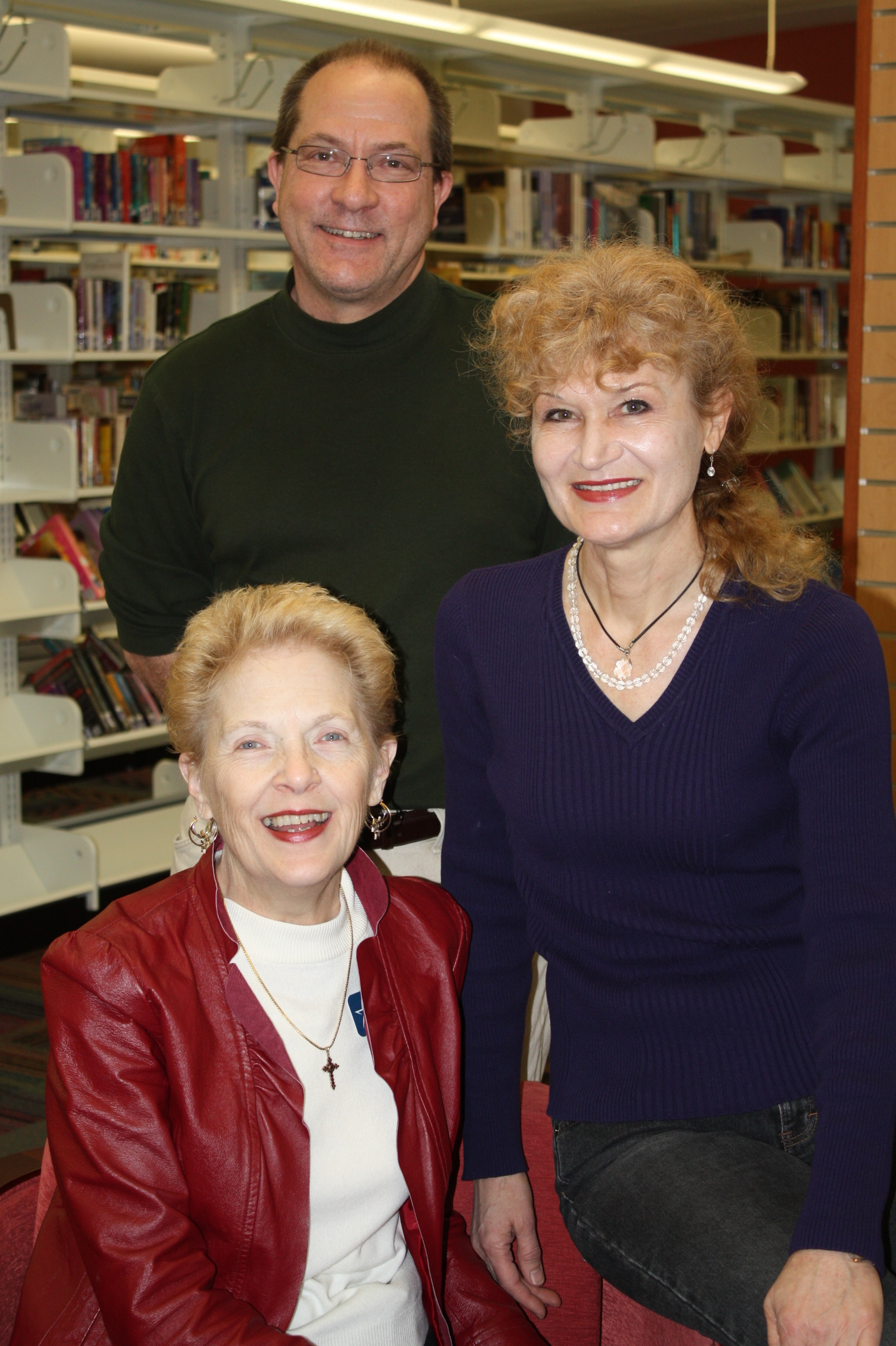 Pictured clockwise from top: Bill Simcik, Irina Nizova, Judy Harris. Not pictured, V.C. Patel.