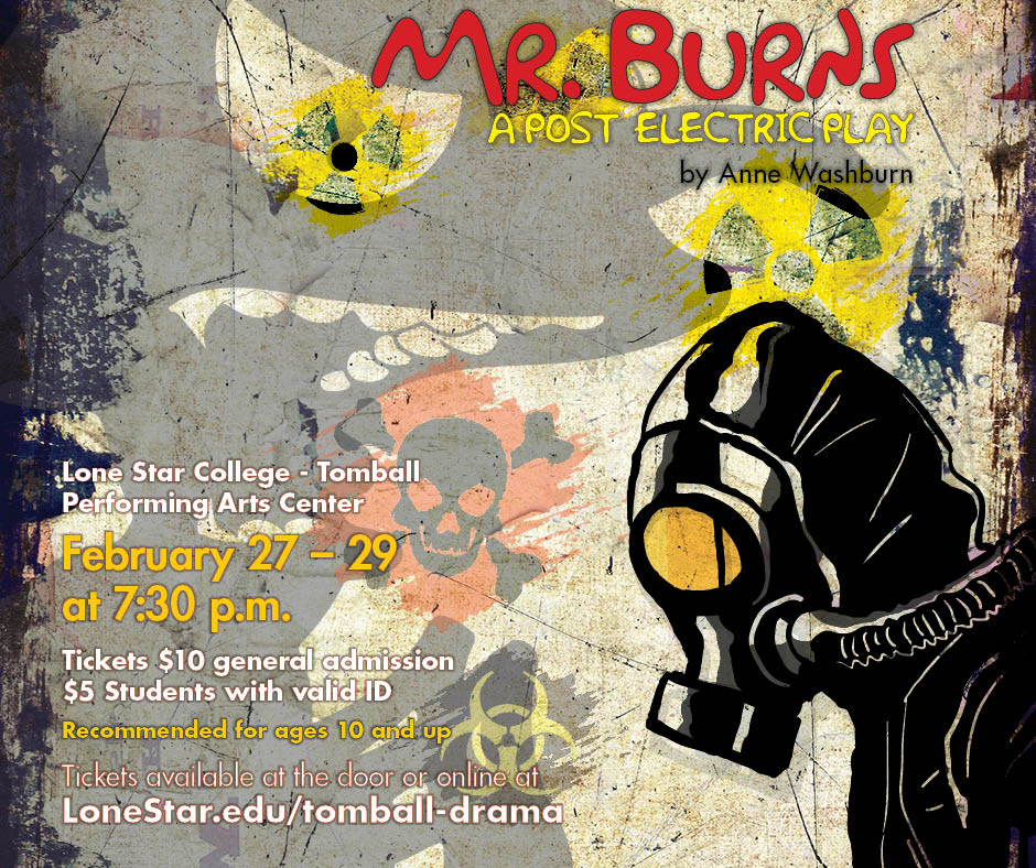 "Poster, ""Mr. Burns, A Post-Electric Play"""