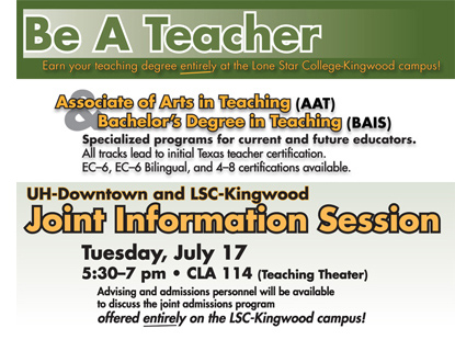 Be a Teacher - Information Session