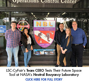 LSC-CyFair's Team CERO Tests Their Future Space Tool at NASA's Neutral Buoyancy Laboratory