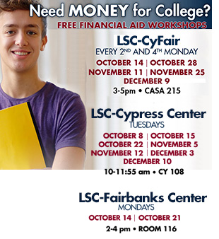 FREE Financial Aid Workshops