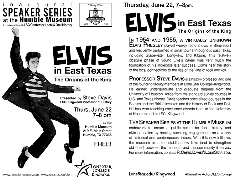 Elvis in East Texas flier