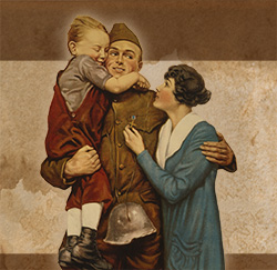 WWI Soldier and Family