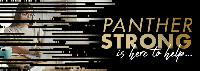 Panther Strong is here to help Decorative Banner